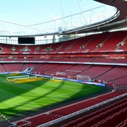 The Emirates stadium 'clock end'.