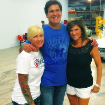 Christie (Gas Monkey Garage), Mark Cuban and CEO Cheryl Rios