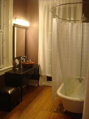 extra large clawfoot tub. Newly Renovated Bathroom Features Clawfoot Tub With Extra Large Shower  Enclos home decor Xshare us