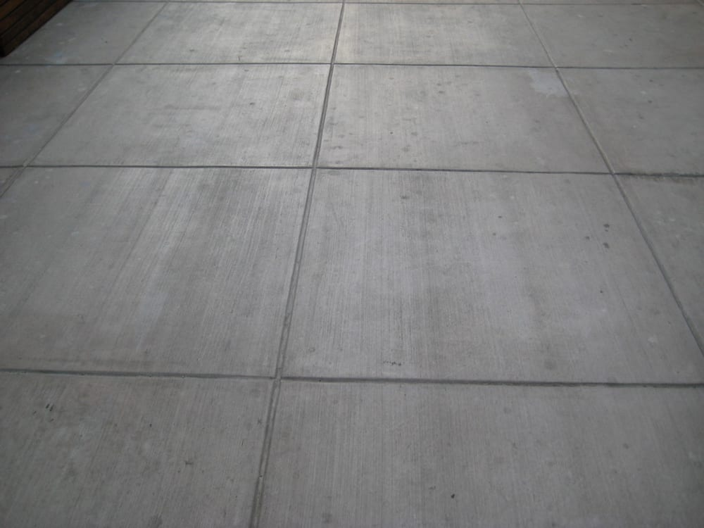 how to stain broom finish concrete