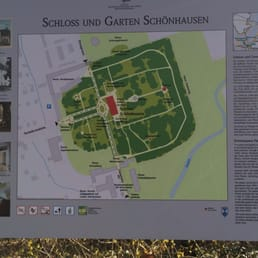 The map for the whole castle and garden
