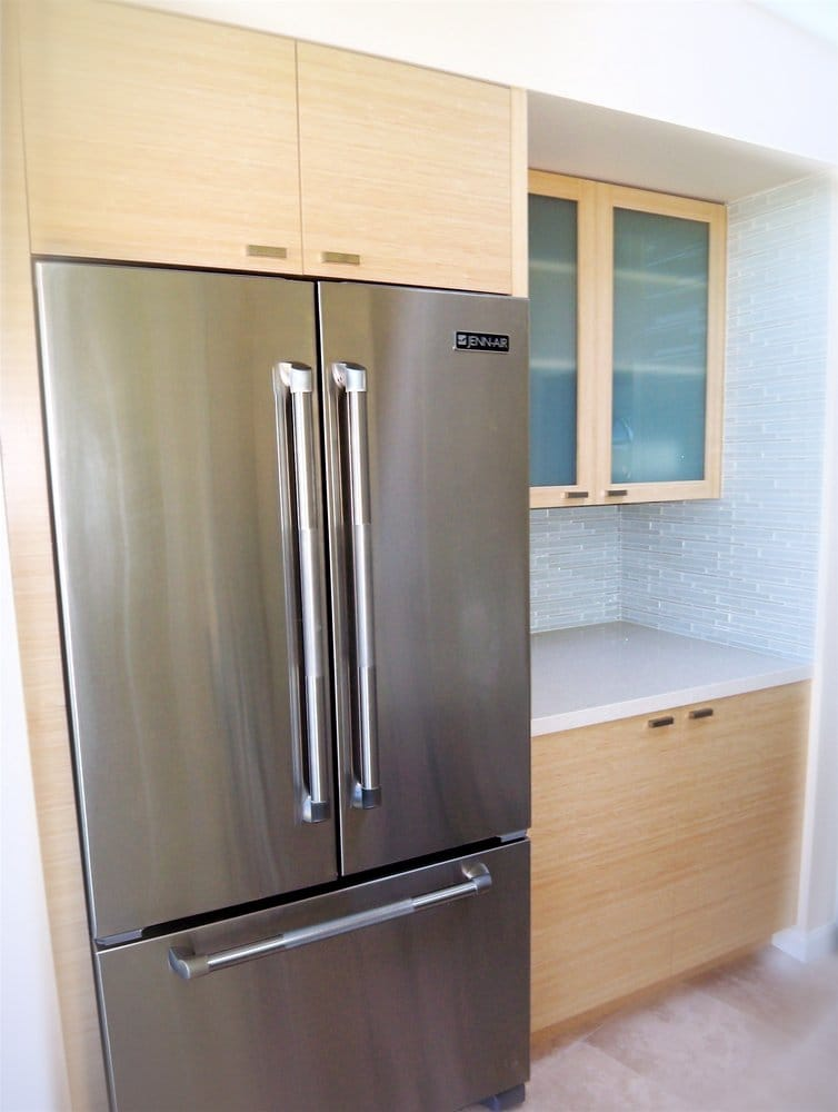 Natural bamboo and frosted glass kitchen cabinets yelp for White kitchen cabinets with frosted glass