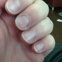 I had my nails (cuticles) done on Sat. May 4th... Today is Monday May 6th. Take a look on how bad it is. GBP27 for that... Sigh