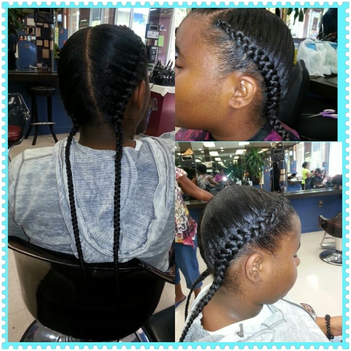 Two french braids done by chanel | Yelp