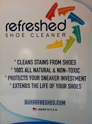 Refreshed Shoe Cleaner: Photos