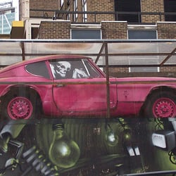 Banksy Pink Car, London