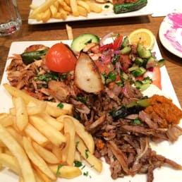 Doner Chicken, Chips and Salad
