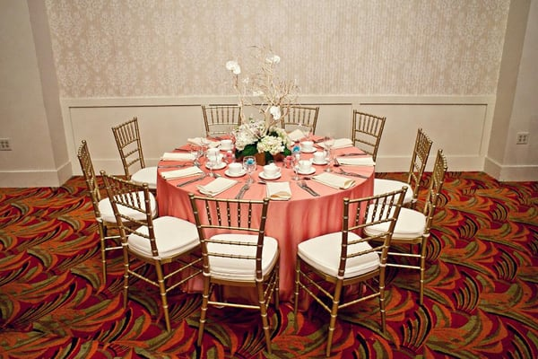 Beautiful gold chiavari chairs rented from seko s for my