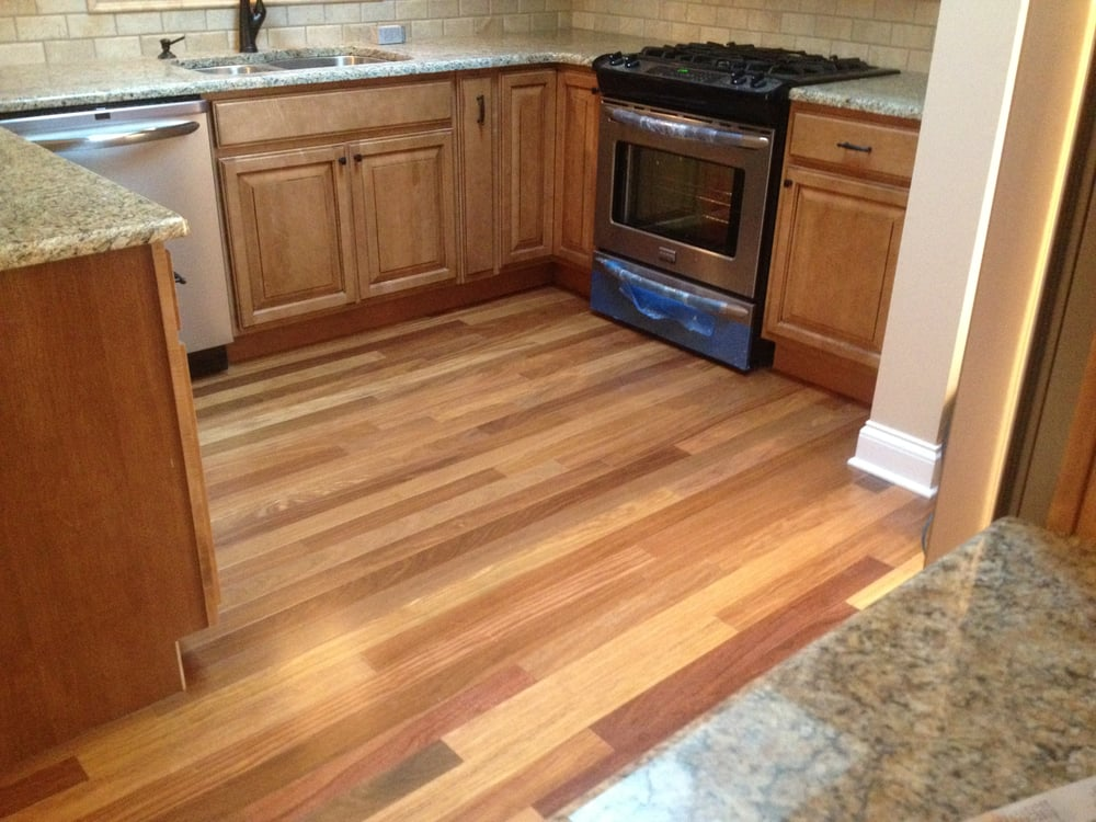 cumaru durable exotic hardwood floor in the kitchen yelp