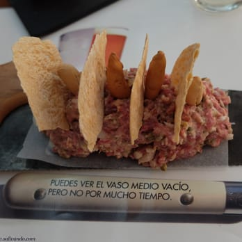 Steak tartare en serrucho