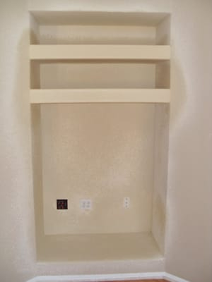 Simple Conversion Of A Wall Niche To An Entertainment