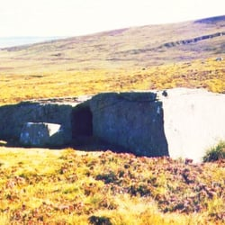 Dwarfie Stane, a 5,000 year-old rock cut tomb.