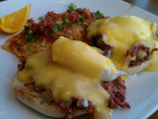 Pastrami Hash Benedict w/ Stuffed Hash Browns. Good Stuff! | Yelp