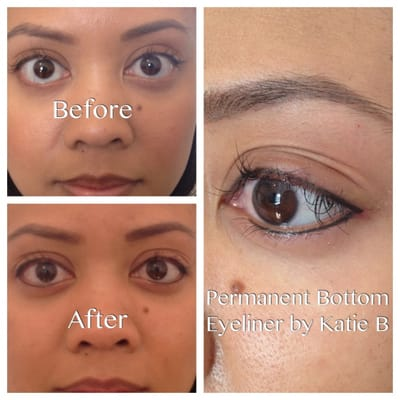 Bottom permanent eyeliner by katie b top eyeliner by for Tattoo eyeliner bottom lid