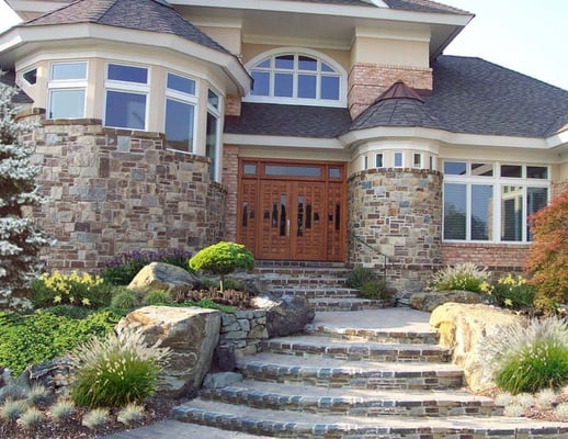Landscaping Stone Maryland : Custom landscape rock garden entrance with stone