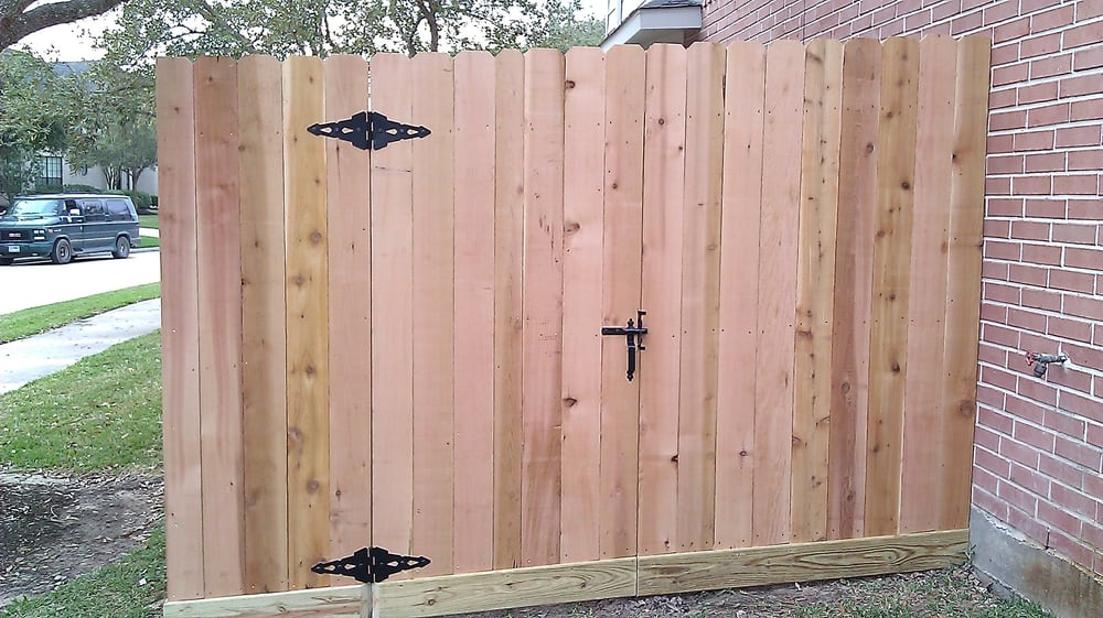 Replaced Wood Gate With New Cedar Gate And Pickets Added