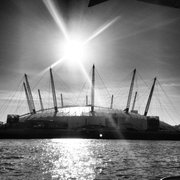 The O2, viewed from the Thames Clipper, on a sunny day