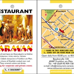 Minicards, Restaurant Caravan in Frankfurt am Main