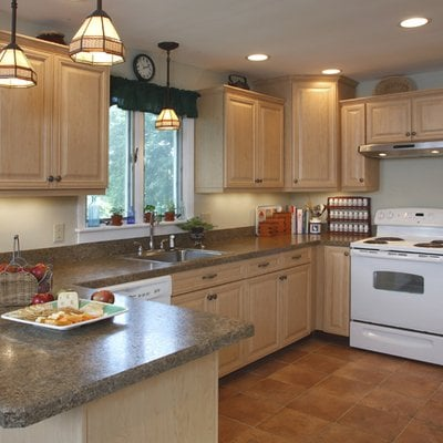 Hardrock Maple Cabinets Vintage Style Formica Countertops Yelp