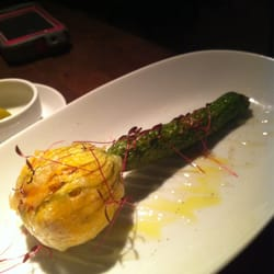 Stuffed courgette flower