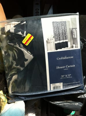 Chic shower curtain priced at $69.99 on clearance for $6.99 & an ...