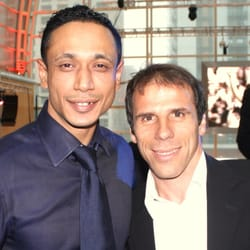 Gianfranco Zola with Aziz