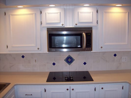 kitchen remodel in mobile home complete with custom faced