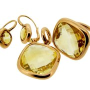 designer citrine jewellery london. Contemporary designer Citrine earrings