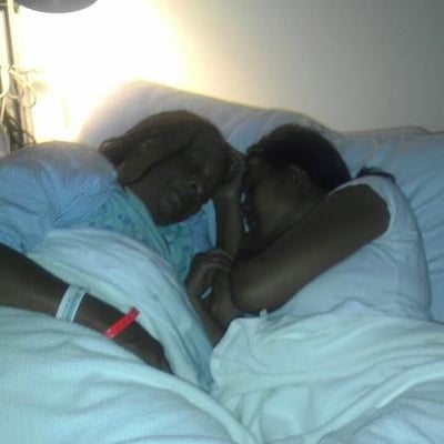 Me And My Mom Sleeping Before She Goes To Get Her Kidney