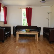 Living area in cottage for 6 at Greetham Retreat, Horncastle, Lincolnshire UK