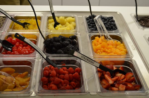 Fresh Fruit In Berry Yo Topping Bar Yummy Yelp
