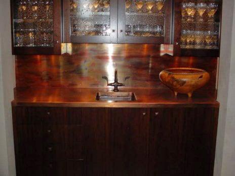 custom sheet metal copper countertop backsplash yelp