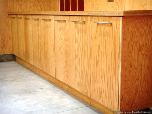 Marine Ply For Kitchen Cabinets : Custom garage cabinets built using marine plywood for a Beverly Hills ...