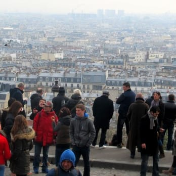 Looking out on the city from Basilique du Sacré Coeur
