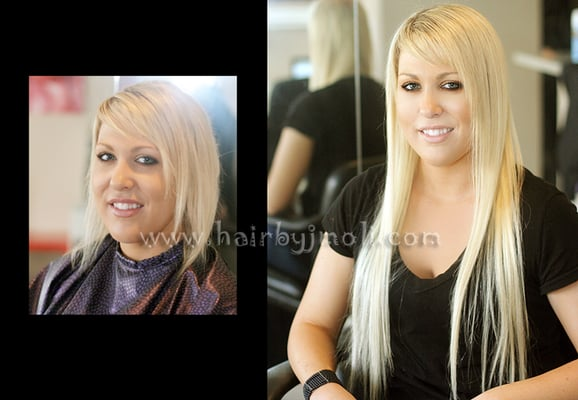 Caucasian Sew in Hair weave Extensions-San Diego.