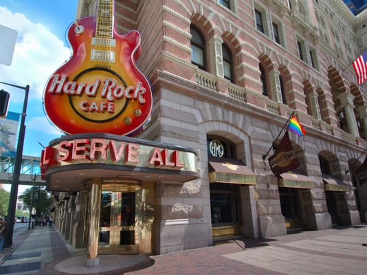 Front Hard Rock Cafe: Hard Rock Cafe Philadelphia: Philadelphia Restaurant: Philadelphia Venue