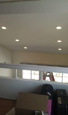 sloped ceiling recessed lights with dimmable 14 watt led bulbs. Black Bedroom Furniture Sets. Home Design Ideas