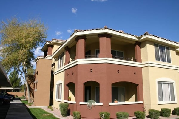 One 80 painting sage stone at arrowhead apartments - Apartment exterior color schemes ...