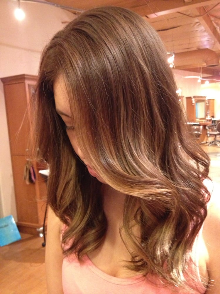 Partial Highlights : mainly face frame partial highlights. Darker base, natural-subtle ...