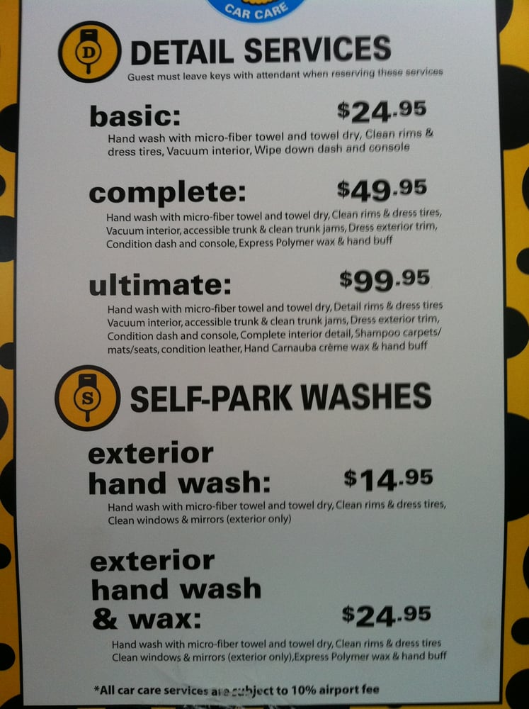 price list for the on site car wash yelp. Black Bedroom Furniture Sets. Home Design Ideas