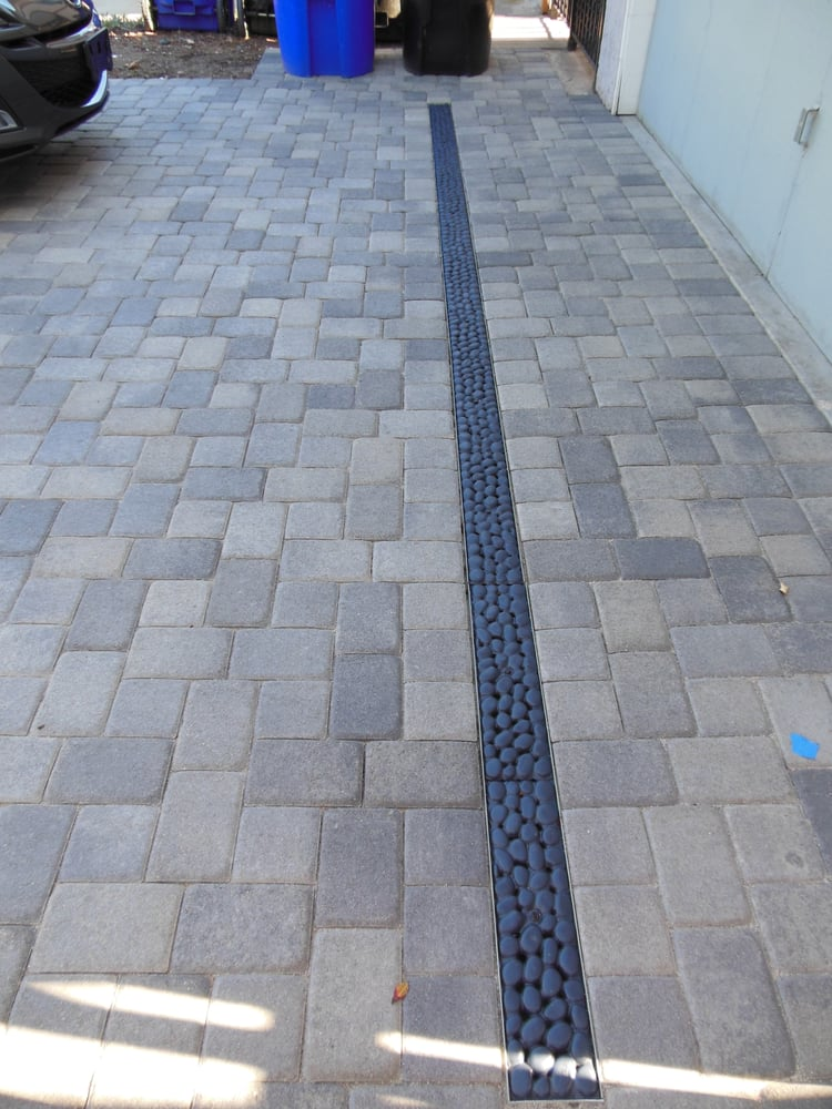 Spud review trench drain new driveway yelp for Driveway trench drain