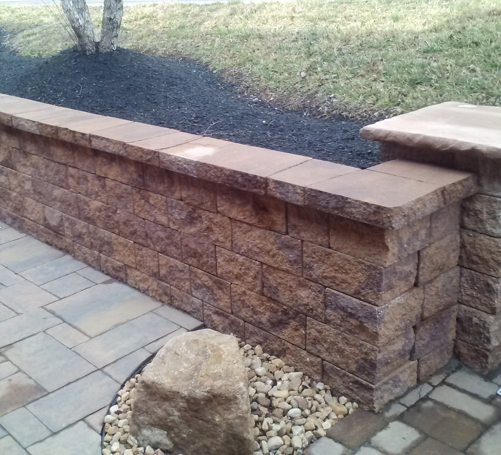Nicolock decrative concrete block retaining wall yelp Cinder block retaining wall