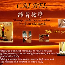 CAI BEI. Chinese Walk on Back Massage.