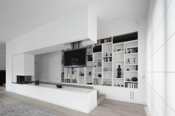 Wohnzimmerwand nach ma by schmalenbach design for Wohnzimmerwand design