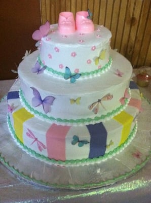 layer baby shower Dominican cake from Maritzas.
