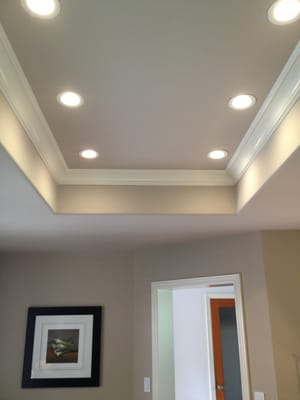 4 LED Recessed Lighting Installed In A Kitchen That Was Previously Fluo
