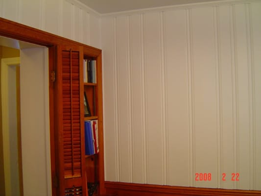 After Picture Of Painted Wood Paneling Yelp