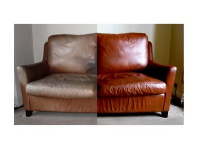 see before and after refinishing of leather sofa yelp. Black Bedroom Furniture Sets. Home Design Ideas