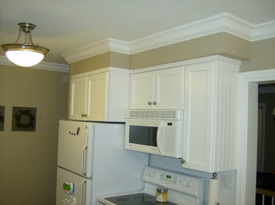 We Added Crown Molding To This Kitchen Custom Trim On The Cabinets