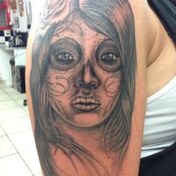 Day of the dead girl tattoo by naresh